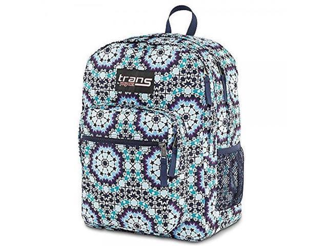 Trans by Jansport Backpack Supermax Navy Moonshine Moroccan Design -  Newegg com