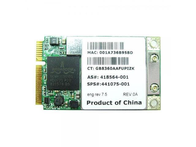 BroadCom BCM94311MCAG BCM4311 Mini PCI-e WLAN WIFI Card for HP 395263  407160 407254 412766 418564 441075 001 002 - Newegg com