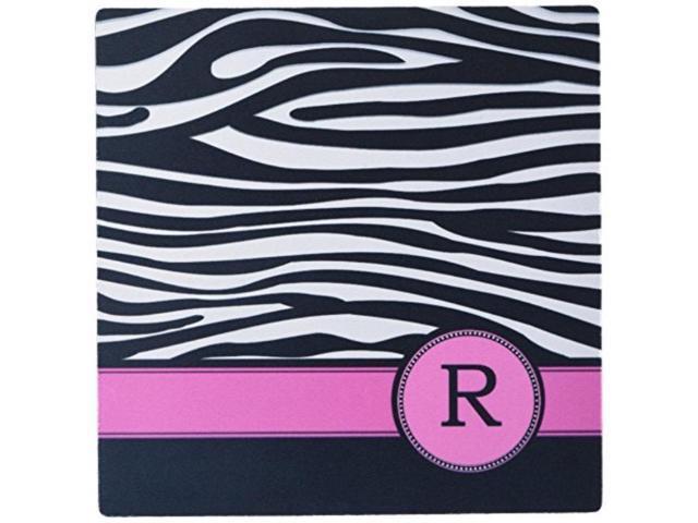 Monogrammed License plate Zebra pattern with hot pink trim vanity plate