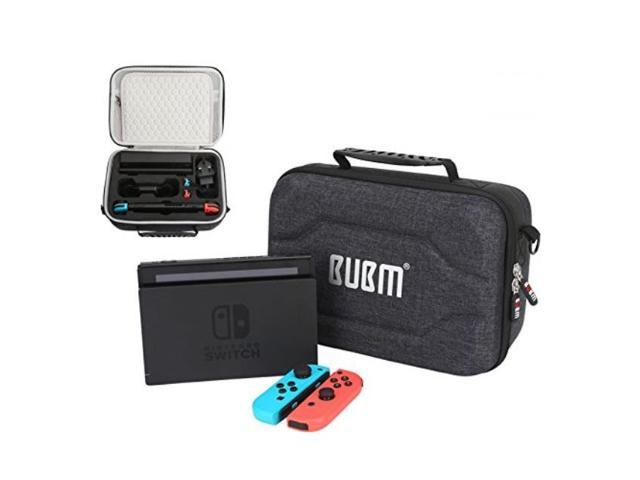 new concept 0e894 08529 nintendo switch carrying case bubm 2018 new design shockproof carrying bag  hard shell protective case for console,charging dock,ac adapter, joycon and  ...