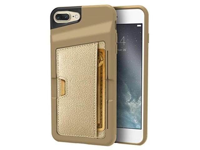 the latest 71128 2f235 silk iphone 7 plus/8 plus wallet case q card case slim protective kickstand  cm4 grip cover
