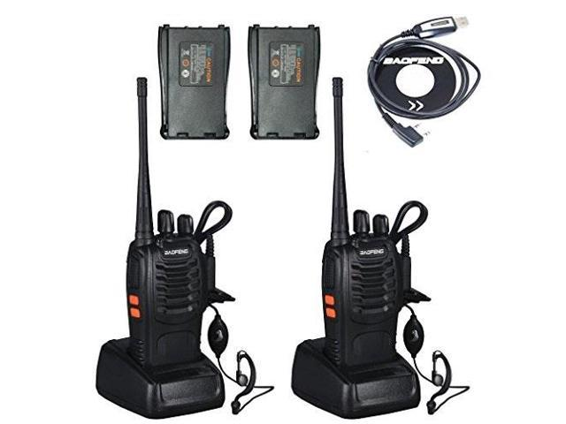 BaoFeng BF-888S 2 Way Radios UHF Radio 400-470MHz 3W 16CH Walkie Talkies  with Earpiece and Additional 2 Backup Batteries and One USB Programming