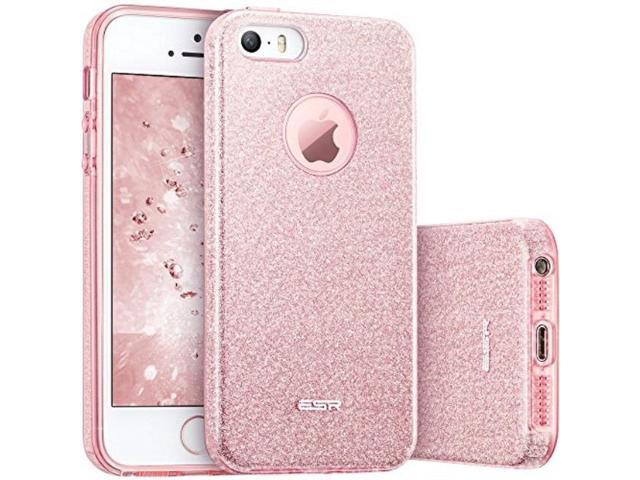 pretty nice f7810 7586f iphone 5s case, iphone se case, esr luxury glitter sparkle bling designer  case slim fit, hard back cover shining fashion style for apple iphone 5s/  se ...