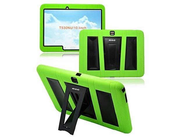 best service b27dd 3769a [iRHINO] TM Heavy Duty rugged impact Dual layer Hybrid Case cover with  Build In Kickstand Protective Case For Samsung Tablet galaxy Tab 4 10.1  inch ...