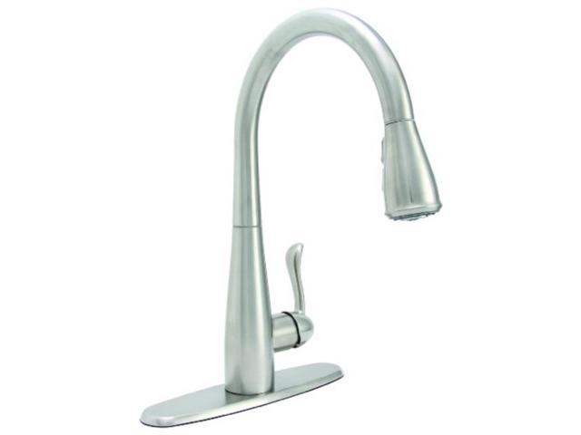 premier 284453 sanibel pulldown kitchen faucet with single handle,  stainless steel, lead free - Newegg.com