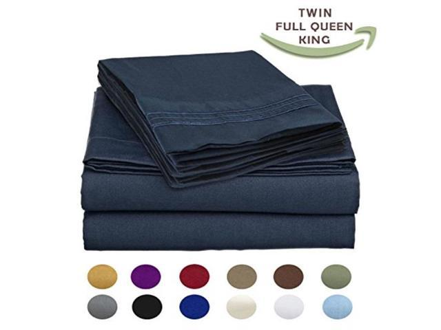 12 Colors Bed Sheet Set Egyptian Comfort 1800 Series 6 Pieces