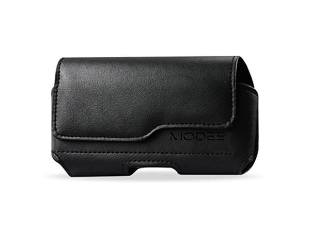 outlet store sale 5424b 2a254 iphone x holster, iphone 10 pouch, modes wireless premium leather pouch  carrying case with belt clip belt loops holster for apple iphone x fits  with ...