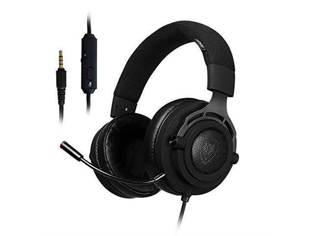 nubwo ps4 headset, stereo gaming headphones, 3 5mm jack wired over ear  computer headset volume control, mute switch, detachable microphone ps4,