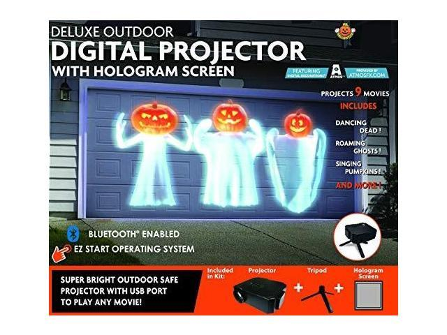 Mr Christmas Projector.Mr Christmas Deluxe Outdoor Digital Projector With Hologram Screen Newegg Com