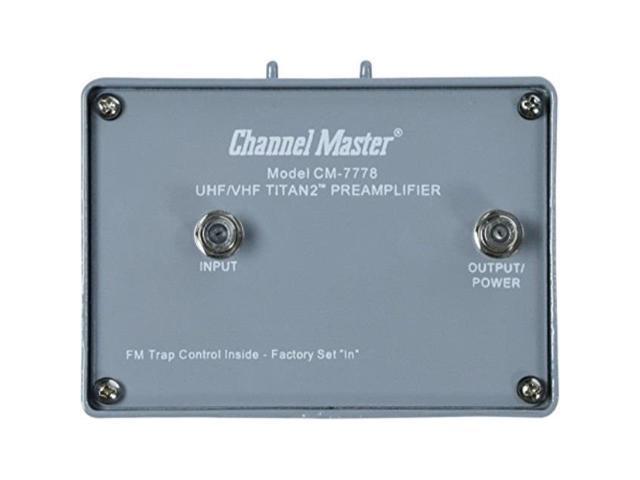 Channel Master CM-7778 Titan 2 Medium Gain Pre-Amplifier Mast Mount UHF VHF 16dB