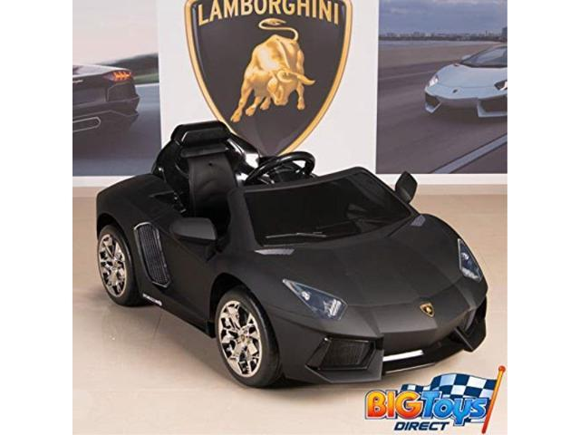 lamborghini aventador 12v kids ride on battery powered wheels car rc remote  black , Newegg.com