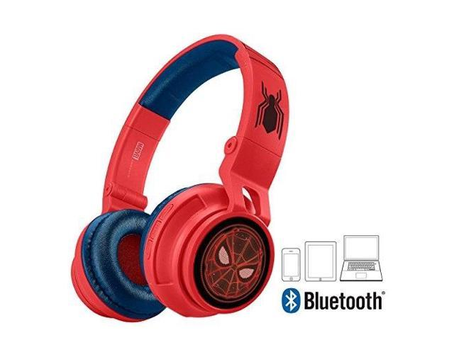 Spiderman Bluetooth Headphones For Kids Wireless Rechargeable Kid Friendly Sound Spiderman Newegg Com