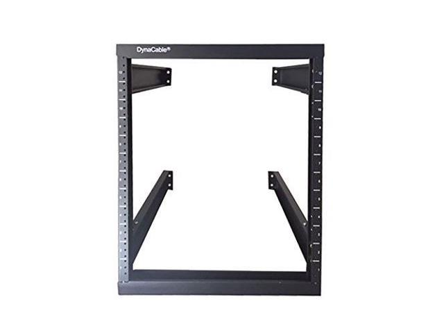 Dynacable 12u Heavy Duty Open Frame Mount Fixed Rack For Cabinets It Networking And More