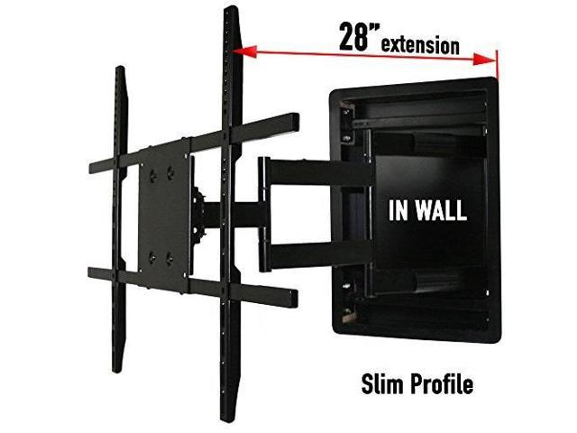 Swell In Wall Tv Mount Recessed Articulating In Wall Tv Mount For 42 To 80 Inch Tvs Lcd Led Or Plasma Extends 28 Inches Newegg Com Download Free Architecture Designs Pushbritishbridgeorg