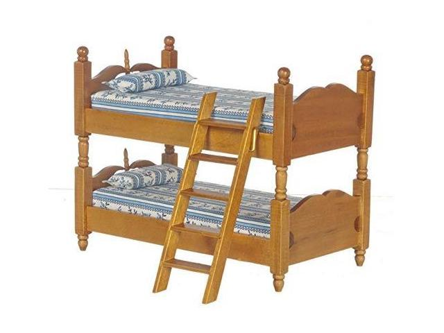 Furniture Rocking Horse Bunk Bed Single Bed Dining Chair 5Pcs Dollhouse