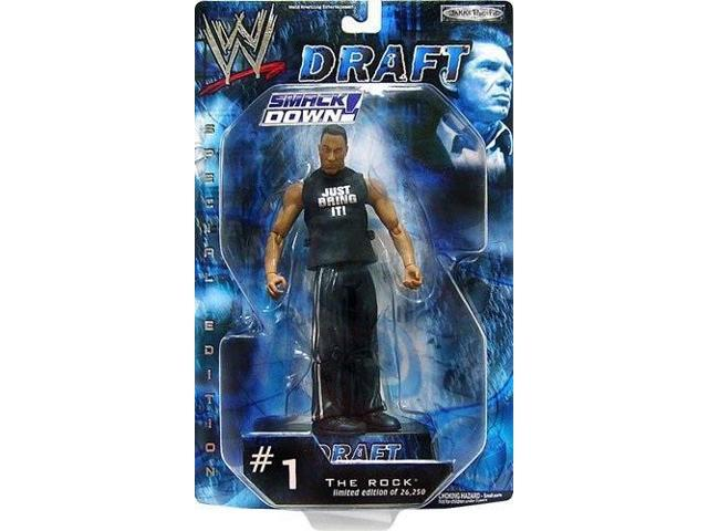 The Rock WWE WWF Draft SMACKDOWN Special Edition Figure Limited to 26,250