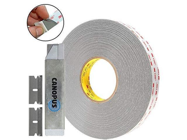 canopus 3m double sided tape, rp32, heavy duty vhb, two sided mounting  tape, 0 5 in x 5 yd with box cutter and razor replacement - Newegg com