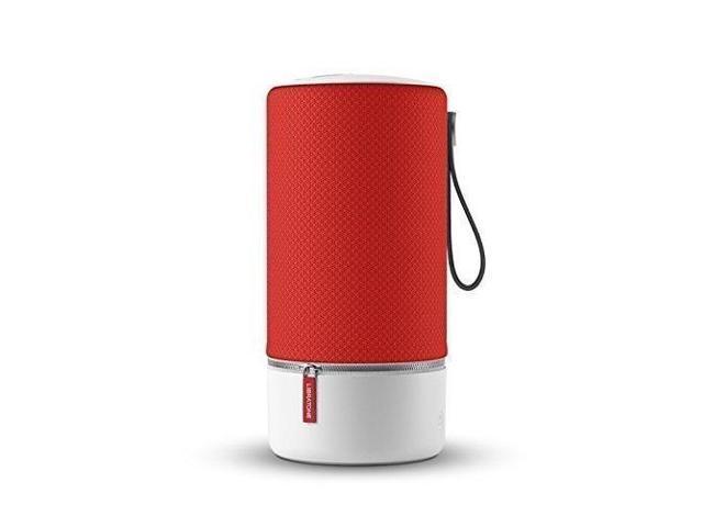 libratone zipp portable wifi + bluetooth wireless speaker compatible with  alexa victory red - Newegg com