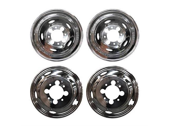 mgpro 4pcs front+rear polished stainless steel 17