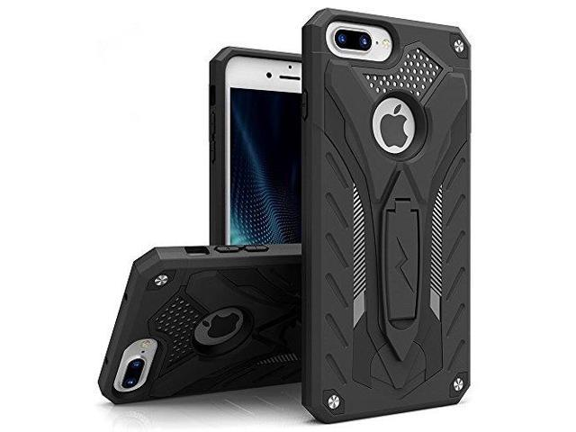 newest cfd67 b0758 Zizo STATIC Series compatible with iPhone 8 Plus case Heavy Duty Shockproof  Military Grade Drop Tested with Kickstand iPhone 7 Plus case BLACK - ...