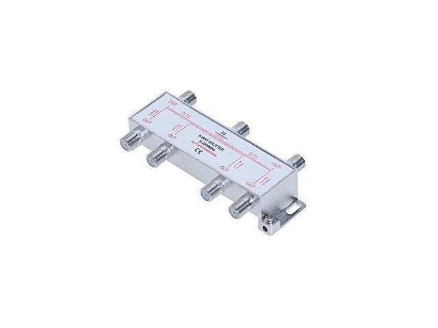 6 way 52300 mhz coaxial antenna splitter for rg6 rg59 coax cable satellite  hdtv 6 ports - Newegg com