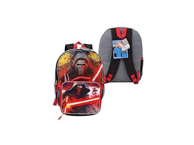 212a309507c3 disney star wars gray kylo ren backpack with lunch box,, - Newegg.com