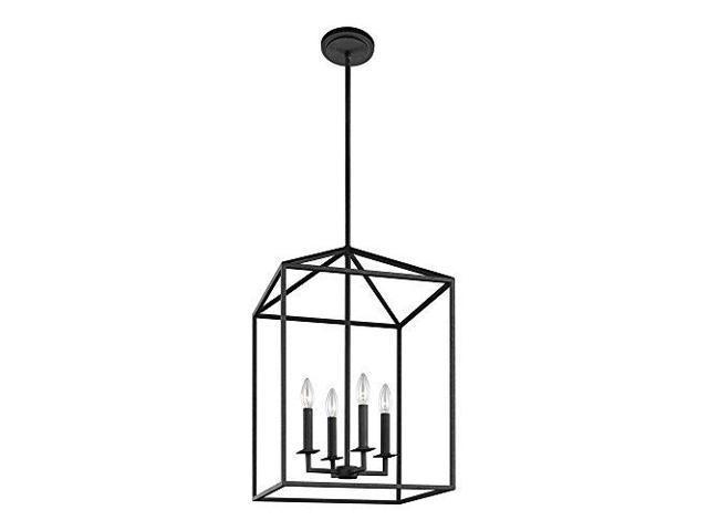 Sea Gull Lighting 5215004839 Perryton Fourlight Hall Or Foyer Light Fixture Blacksmith Finish