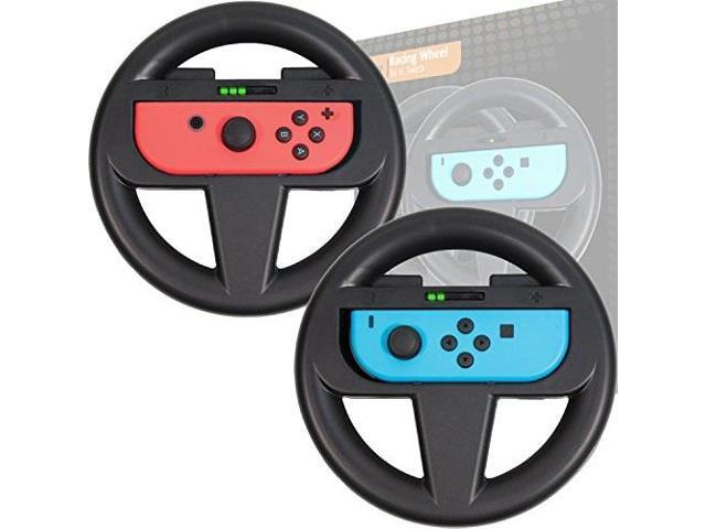 Orzly Nintendo Switch Steering Wheel Twin Pack For Mario