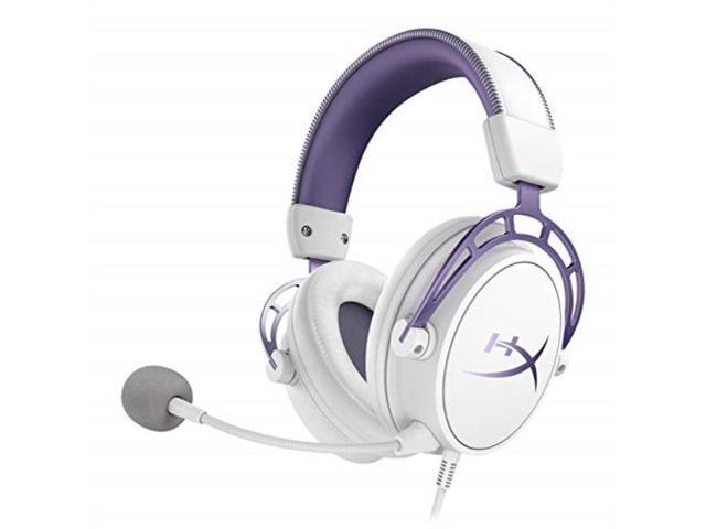 hyperx cloud alpha gaming headset white/purple limited edition for pc, ps4  & xbox one, nintendo switch - Newegg com