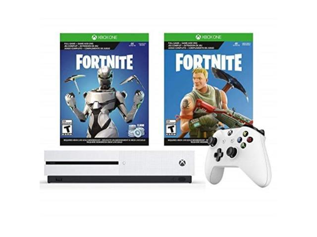 xbox one s fortnite eon cosmetic epic bundle: fortnite battle royale, eon  cosmetic, 2,000 vbucks and xbox one s 1tb gaming console with 4k bluray
