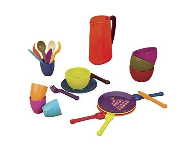 b toys lets dish toy dishes set bpa free plastic kitchen ...