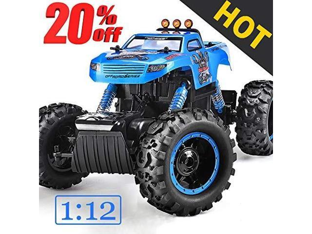 Nqd Remote Control Trucks Monster Rc Car 1 12 Scale Off Road Vehicle 2 4ghz Radio Remote Control Car 4wd High Speed Racing All Terrain Climbing Car Gift For Boys Newegg Com
