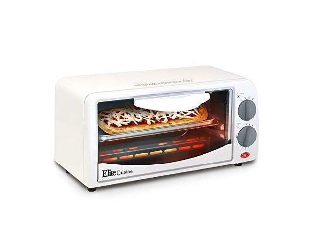 eto113 elite cuisine eto113 maximatic 2slice toaster oven with 15 minute  timer, white - Newegg com