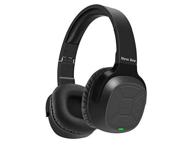 active noise cancelling bluetooth headphones new bee 70h playtime anc  wireless headphones w/mic siri voice control hifi stero deep bass for  travel