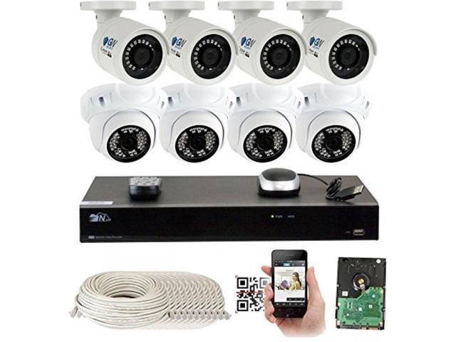 BNT POE IP Camera 1080P HD Audio Network Onvif  CCTV Security IR Night Vision