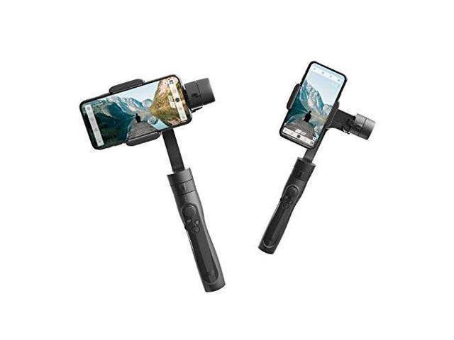 freevision viltase 3axis handheld gimbal stabilizer focus/zoom, bluetooth  microphone app controls for actions cameras and smartphones for