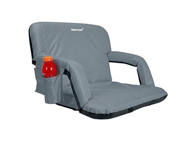 Stadium Seat Blue Reclining Bleacher Chair Folding Perfect For Bleacher Lawn