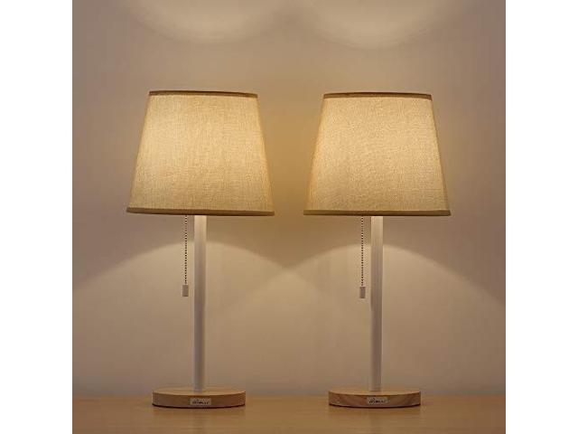 Haitral Bedside Desk Lamps Eyecaring Nightstand Table