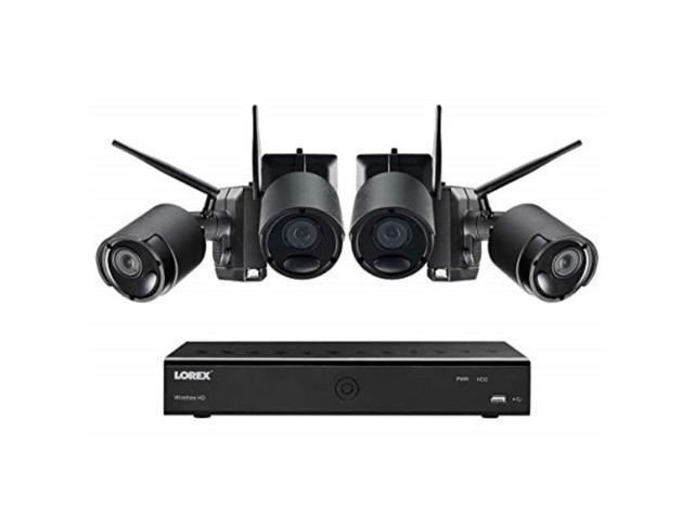 Lorex - 8-Channel, 4-Camera Indoor/Outdoor Wired 4K 2TB DVR Surveillance  System - White - Newegg com