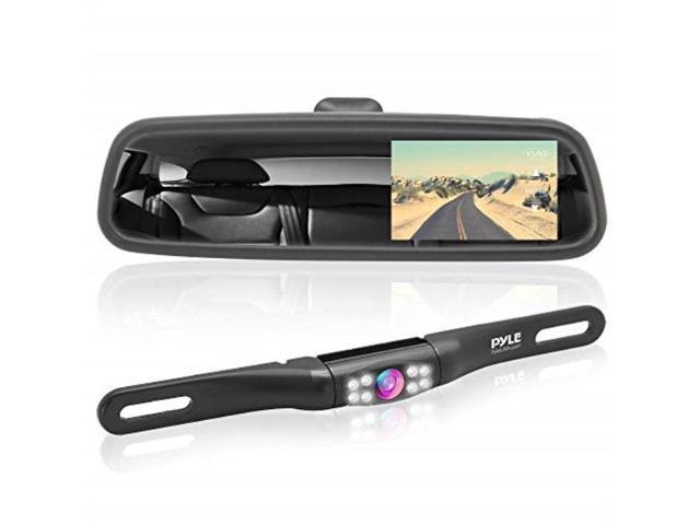 4.3/'/' Car Reversing Monitor Rear View Mirror Backup License Plate Parking Camera