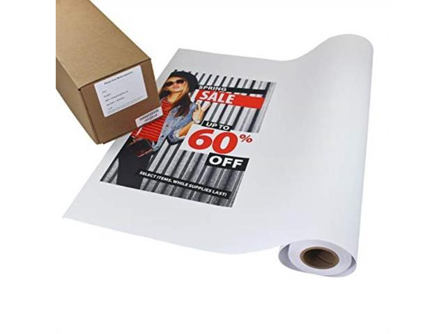 image about Printable Vinyl Roll named photograph peel matte printable adhesive vinyl roll 24 inches x 60 ft inkjet peel and adhere sticker paper is effective with all inkjet printers such as