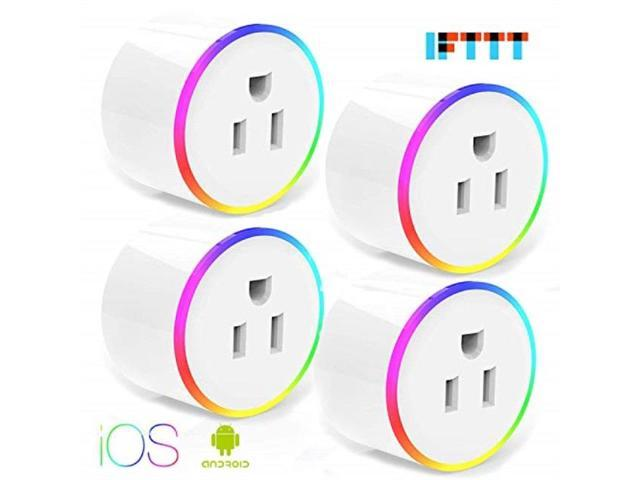 Google Home and IFTTT KUSSN Smart Plug WiFi Outlet Mini Plug Compatible with Alexa 4 Packs Wireless Socket Remote Control Timer Plug Switch Echo,Echo Dot No Hub Required