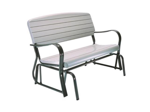 Prime Lifetime 2871 Indoor Outdoor Glider Bench 4 Feet Putty Newegg Com Gmtry Best Dining Table And Chair Ideas Images Gmtryco