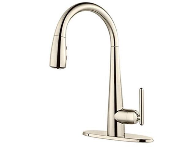 pfister gt72smdd lita 1handle pulldown bar/prep kitchen faucet, polished  nickel - Newegg.com