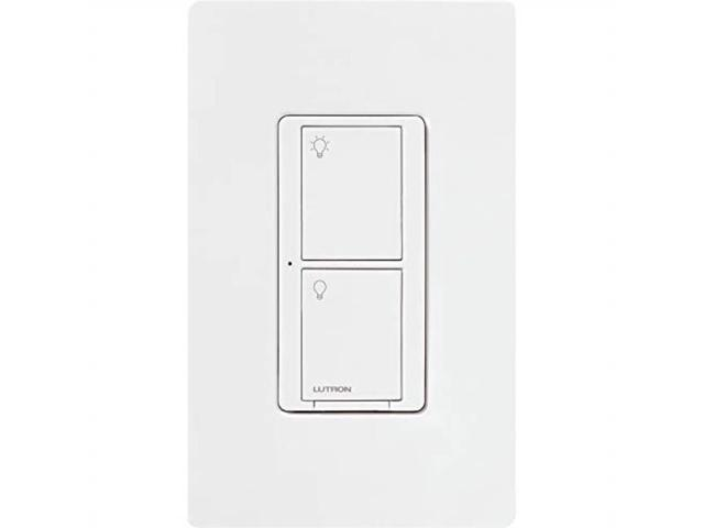 Light Switch Types >> Lutron Caseta Wireless Smart Lighting Switch For All Bulb Types And Fans With Wallplate 5a Led 600w Incandescent Halogen Pdw5answha White