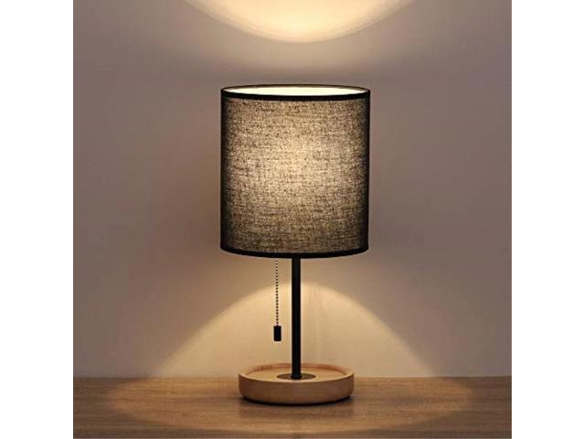 HAITRAL Modern Wooden Table Lamps – Contemporary Desk Lamp ...