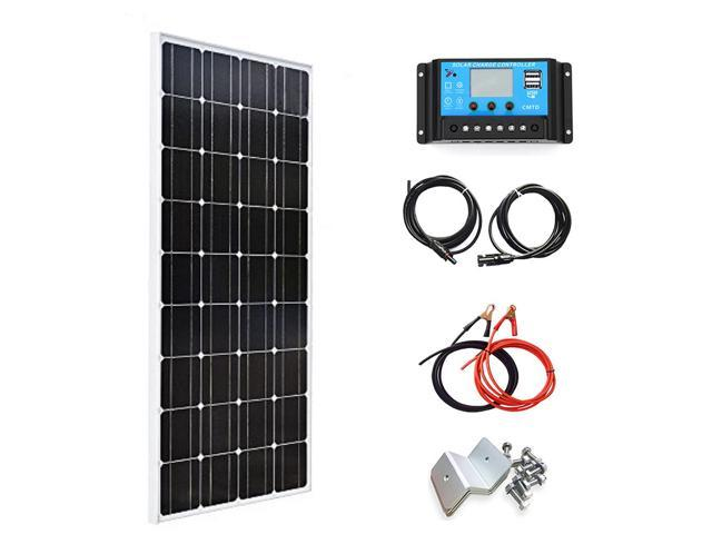 100w XINPUGUANG 100W Watts 18V Monocrystalline Solar Panel Module with MC4 Connector for Caravan Home 12v Battery Charging