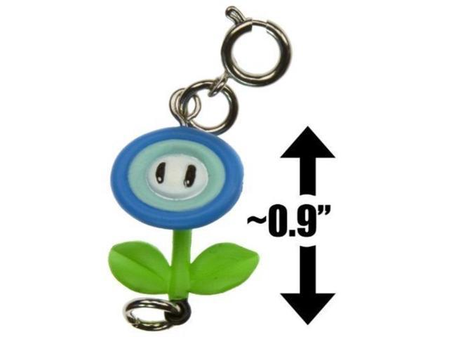 Ice Flower 0 9 Mini Figure New Super Mario Bros Wii Zipper Pull