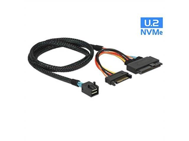 Black 1.5 Feet // 0.5 Meter SFF-8644, 26 Pin 28AWG Male Cable External Mini-SAS Male to Mini-SAS SFF-8644, 26 Pin