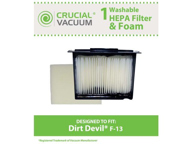 1 Dirt Devil F13 Reaction Fresh F 13 Reaction All Surface And Action Vacuum Cleaners Compare To Dirt Devil F 13 Filter Part 3lk0540001 Designed Engineered By Crucial Vacuum Think Crucial Washable Hepa